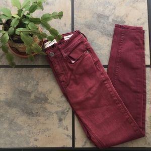 PACSUN | Bullhead Denim Co. Burgundy Skinny Jeans